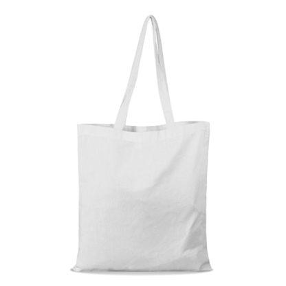 shopper bag in cotone personalizzata stampata alterego economica bianca