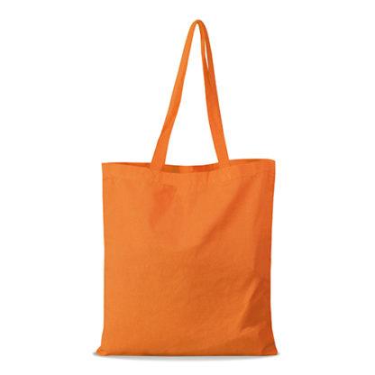 shopper bag in cotone personalizzata stampata alterego economica arancione