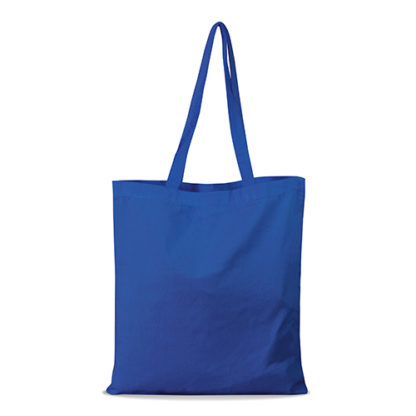 shopper bag in cotone personalizzata stampata alterego economica blu royal