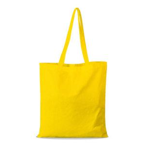 shopper bag in cotone personalizzata stampata alterego economica gialla