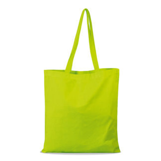 shopper bag in cotone personalizzata stampata alterego economica lime
