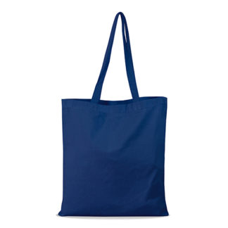 shopper bag in cotone personalizzata stampata alterego economica blu navy