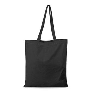 shopper bag in cotone personalizzata stampata alterego economica nera