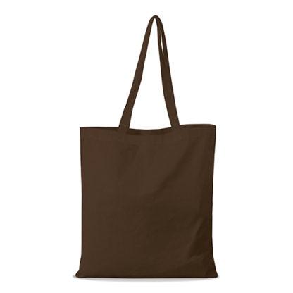 shopper bag in cotone personalizzata stampata alterego economica marrone