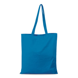 shopper bag in cotone personalizzata stampata alterego economica azzurra