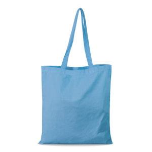 shopper bag in cotone personalizzata stampata alterego economica celeste