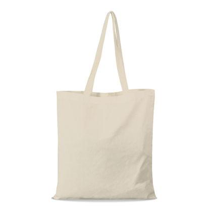 shopper bag in cotone personalizzata stampata alterego economica beige
