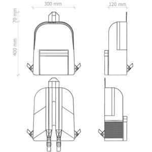zaino zainetto personalizzato economico stampato personalizzato alterego giallo scheda tecnica