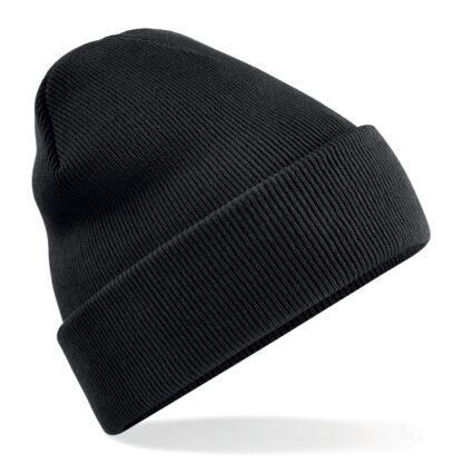 cappello in lana personalizzato con ricamo nero