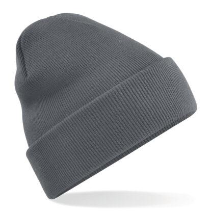 cappello in lana personalizzato con ricamo grigio