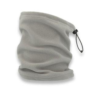 scaldacollo con ricamo personalizzato grigio chiaro