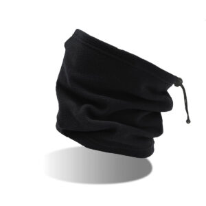 scaldacollo con ricamo personalizzato nero
