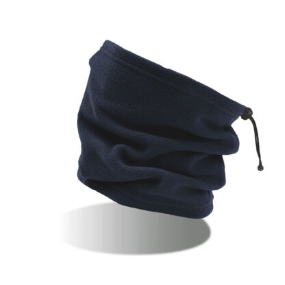 scaldacollo con ricamo personalizzato blu navy