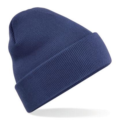 cappello in lana personalizzato con ricamo blu