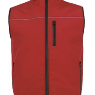 Gilet smanicato softshell impermeabile alterego personalizzato da lavoro antivento rosso