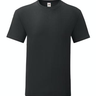 t-shirt maglietta fruit of the loom iconic personalizzata ingrosso rivenditori fornitori alterego custom shop nera