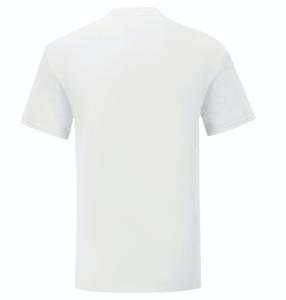 t-shirt maglietta fruit of the loom iconic personalizzata ingrosso rivenditori fornitori alterego custom shop bianca