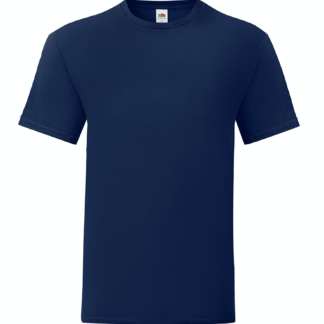 t-shirt maglietta fruit of the loom iconic personalizzata ingrosso rivenditori fornitori alterego custom shop blu navy