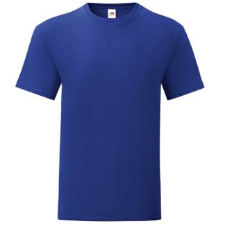 t-shirt maglietta fruit of the loom iconic personalizzata ingrosso rivenditori fornitori alterego custom shop blu Royal