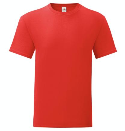 t-shirt maglietta fruit of the loom iconic personalizzata ingrosso rivenditori fornitori alterego custom shop Rossa