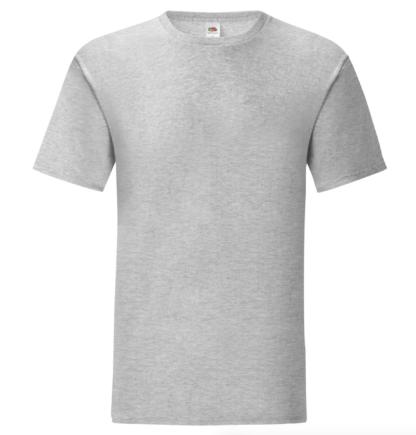t-shirt maglietta fruit of the loom iconic personalizzata ingrosso rivenditori fornitori alterego custom shop Grigio Chiaro