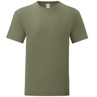 t-shirt maglietta fruit of the loom iconic personalizzata ingrosso rivenditori fornitori alterego custom shop Verde Militare