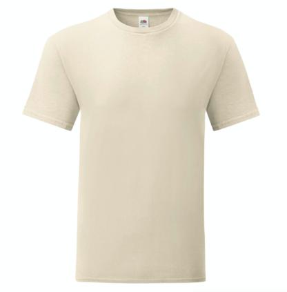 t-shirt maglietta fruit of the loom iconic personalizzata ingrosso rivenditori fornitori alterego custom shop beige natural