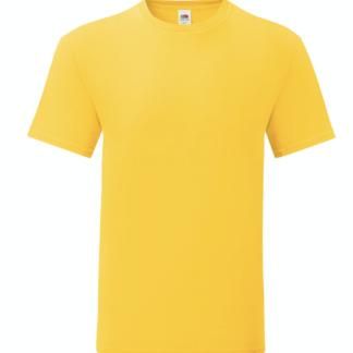 t-shirt maglietta fruit of the loom iconic personalizzata ingrosso rivenditori fornitori alterego custom shop gialla