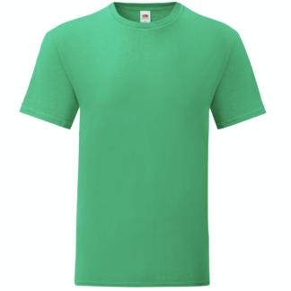 t-shirt maglietta fruit of the loom iconic personalizzata ingrosso rivenditori fornitori alterego custom shop verde