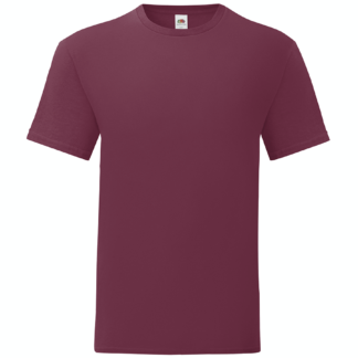 t-shirt maglietta fruit of the loom iconic personalizzata ingrosso rivenditori fornitori alterego custom shop bordeaux bordo burgundi
