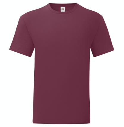 t-shirt maglietta fruit of the loom iconic personalizzata ingrosso rivenditori fornitori alterego custom shop bordeaux bordo burgundi