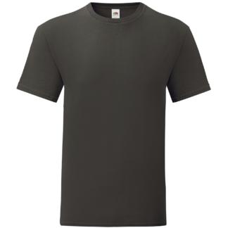 t-shirt maglietta fruit of the loom iconic personalizzata ingrosso rivenditori fornitori alterego custom shop Marrone