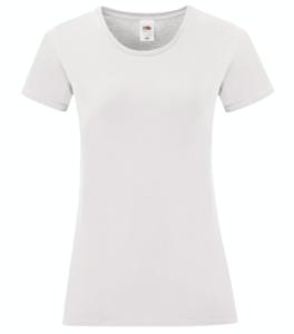 t-shirt maglietta fruit of the loom iconic donna femminile personalizzata ingrosso rivenditori fornitori alterego custom shop bianca