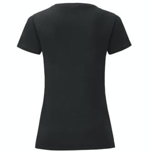 t-shirt maglietta fruit of the loom iconic donna femminile personalizzata ingrosso rivenditori fornitori alterego custom shop nera