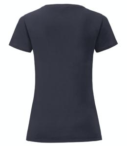 t-shirt maglietta fruit of the loom iconic donna femminile personalizzata ingrosso rivenditori fornitori alterego custom shop Blu Navy
