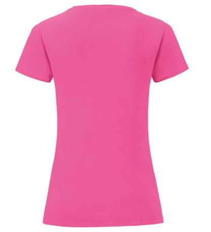 t-shirt maglietta fruit of the loom iconic donna femminile personalizzata ingrosso rivenditori fornitori alterego custom shop fucsia fuxia