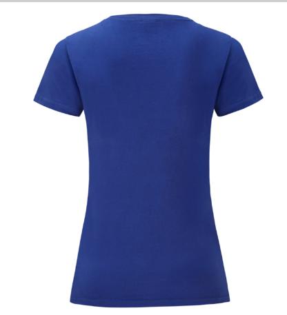 t-shirt maglietta fruit of the loom iconic donna femminile personalizzata ingrosso rivenditori fornitori alterego custom shop blu royal
