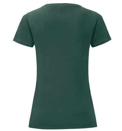 t-shirt maglietta fruit of the loom iconic donna femminile personalizzata ingrosso rivenditori fornitori alterego custom shop verde Bottiglia verde scuro