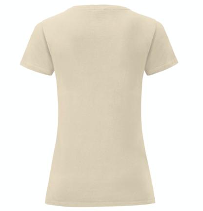 t-shirt maglietta fruit of the loom iconic donna femminile personalizzata ingrosso rivenditori fornitori alterego custom shop verde Bottiglia Beige Natural