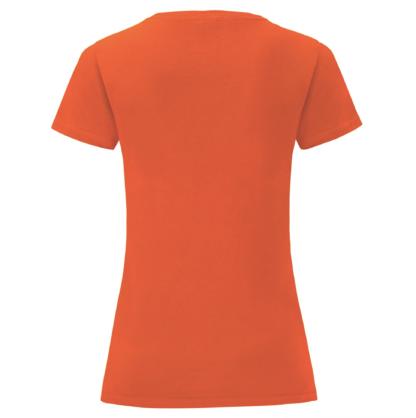 t-shirt maglietta fruit of the loom iconic donna femminile personalizzata ingrosso rivenditori fornitori alterego custom shop verde Bottiglia Arancione Flame