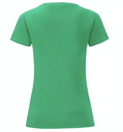 t-shirt maglietta fruit of the loom iconic donna femminile personalizzata ingrosso rivenditori fornitori alterego custom shop verde Bottiglia Verde