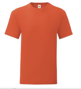 t-shirt maglietta fruit of the loom iconic personalizzata ingrosso rivenditori fornitori alterego custom shop arancione flame