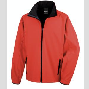 rossa rosso Giacca giacche giubbini giubbino ricamate ricamo logo stampate stampa personalizzate in softshell a due strati con interno in micropile, antivento e traspirante, zip intera con protezione per il mento, 2 tasche laterali con zip, polsini elasticizzati, offerta promozione
