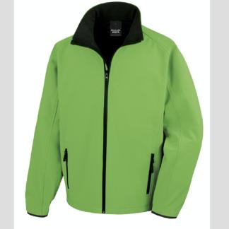 verde Giacca giacche giubbini giubbino ricamate ricamo logo stampate stampa personalizzate in softshell a due strati con interno in micropile, antivento e traspirante, zip intera con protezione per il mento, 2 tasche laterali con zip, polsini elasticizzati, offerta promozione