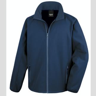 blu scuro royal navy Giacca giacche giubbini giubbino ricamate ricamo logo stampate stampa personalizzate in softshell a due strati con interno in micropile, antivento e traspirante, zip intera con protezione per il mento, 2 tasche laterali con zip, polsini elasticizzati, offerta promozione