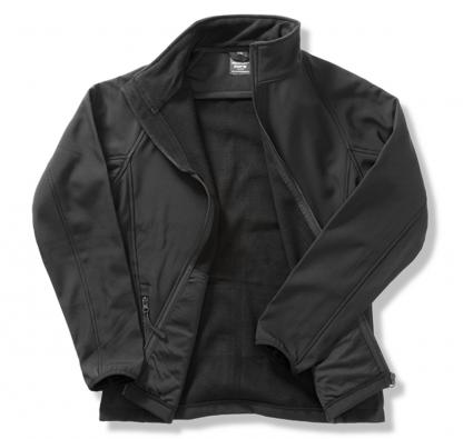 giacca softshell nera personalizzabile