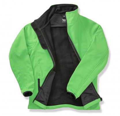 giacca softshell verde personalizzabile
