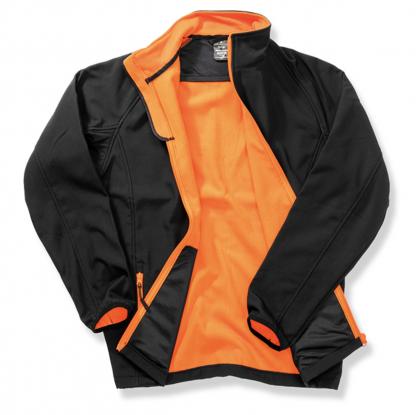 giacca softshell nero arancione personalizzabile