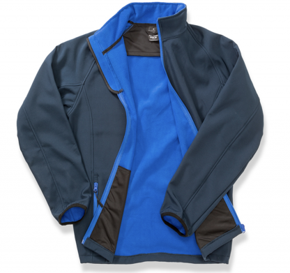 giacca softshell blu personalizzabile