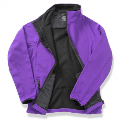 giacca softshell viola personalizzabile
